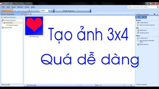 Cách tạo khung ảnh 3x4 trong word